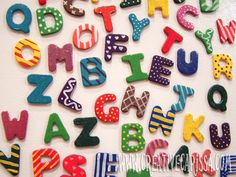 Make Cute Alphabet Magnets! ~ Creative Green Living