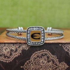 Emporia State Hornets Square Cuff Bracelet