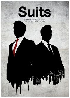 """Suits"" centers on a fast-paced Manhattan corporate law firm led by legendary lawyer Harvey Specter (Gabriel Macht), his intelligent but delicate partner, Louis Litt (Rick Hoffman), and secretary-turned-COO Donna Paulsen (Sarah Rafferty). Serie Suits, Suits Tv Series, Suits Tv Shows, Suits Show, Gabriel Macht, Vanessa Ray, Gina Torres, Series Poster, Poster Poster"