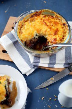 Moussaka végétarienne (aubergines, tomates, champignons, oignons, parmesan, cheddar)