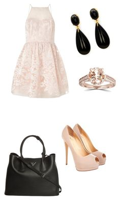 """Untitled #596"" by bri-dawsonaretogetherallthetime on Polyvore featuring Lipsy, Prada and Bliss Diamond"