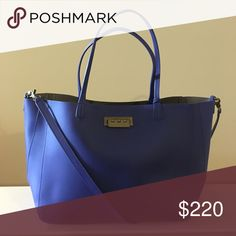 "Zac Posen Eartha Everyday Signature Shopper Tote This adorable shopper is great for everyday use! Large enough to fit a laptop & school books! Includes a Zac Posen dust bag!                      Leather Leather lining Clasp closure 9"" shoulder drop 11.5"" high 18"" wide Zac Posen Bags Totes"