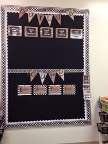 First Grade Glitter and Giggles: Classroom Reveal...Burlap & Black