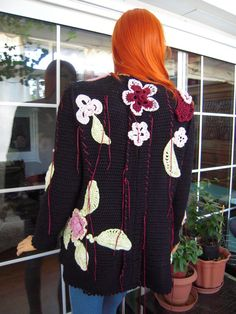 Handmade crochet embroidered hippie like by GoldenYarn on Etsy, $330.00