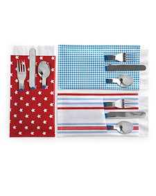 Silverware/Napkin Pockets:  This idea would be great for any gathering at the house.  Put them together and place in a basket.  No more company wondering where...