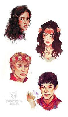Merlin 2, Merlin Memes, Merlin Funny, Merlin Fandom, Merlin And Arthur, Flower Sketches, Fandoms, Fan Art, Superwholock