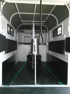 2 horse bumper pull with drop down beds and kitchenette ahead of horses
