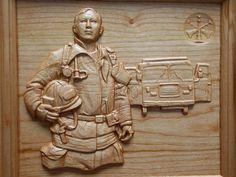 FIREMAN Fire Truck Fireman Decor  by TheWoodGrainGallery on Etsy