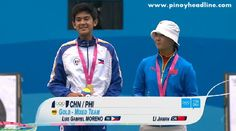 VIDEO YOG 2014 : Luis Moreno at Mixed International Team Archery Finals | Pinoy Headline dot Com