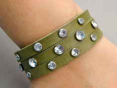 Riveted DIY Leather Bracelet