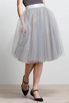 Karinska Tulle Skirt #anthropologie This skirt is killing me it is so gorgeous. I must sew it in every color of the rainbow. So simple to make!