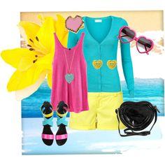 bright neon colors