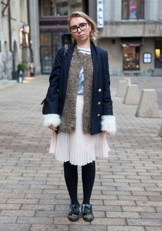 Carolina - Hel Looks - Street Style from Helsinki  except the dog fur gloves