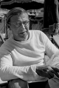 Jean Paul Sartre at Cannes film fsstival. Jean Paul Sartre, France, Portraits, Photo Essay, Beach Photos, Stargazing, Philosophy, Literature, Author