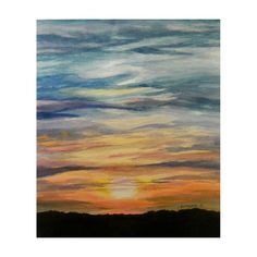 Sunset  Limited Edition Print by CSchmauderWatercolor on Etsy,