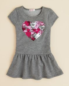 Design History Girls' Sequin Hearts in Heart Dress - Sizes 2-6X