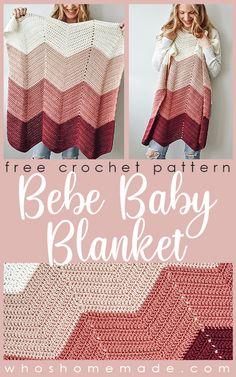 Crochet Leg Warmers, Knit Crochet, Crochet Baby Blanket Free Pattern, Quick Crochet Blanket, Chevron Crochet Patterns, Crotchet Blanket, Chevron Afghan, Easy Baby Blanket, Chevron Baby Blankets