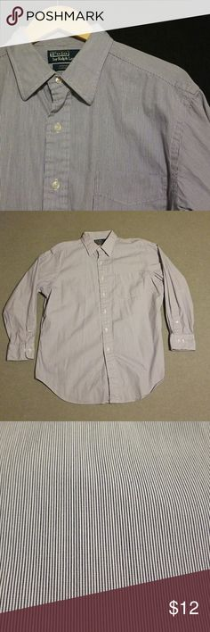 Polo Ralph Lauren Button Down 16.5 This shirt is in great condition with minimal signs of wear. Sized 16.5 with length of 32/33. Great addition to any wardrobe. Thanks for looking!  Seller is: -Posh Ambassador -Fast Shipper -Top-Rated Seller  *I offer great bundles on discounts Polo by Ralph Lauren Shirts Dress Shirts