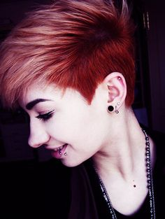 Red Hairstyles for Very Short Hair