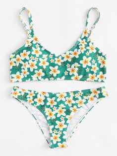 Calico Print Cami Bikini Set – BORNTOWEAR