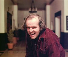 Frame from an unused take from The Shining. This alternate take of Jack Nicholson rising into frame after murdering Dick Hallorann was used in an American television spot for The Shining upon its initial release. A British version of the television spot also exists, and is nearly identical to the U.S. version with the exception of two shots.