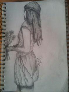 Girl Holding Flowers - Lara