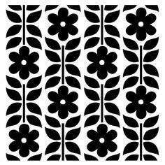 Flower Pattern on Reusable 10MIL Laser-Cut by PearlDesignStudio