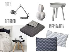 Grey Bedroom Decorating Ideas / Muuto Bloomingville Artemide Hay Normann Copenhagen