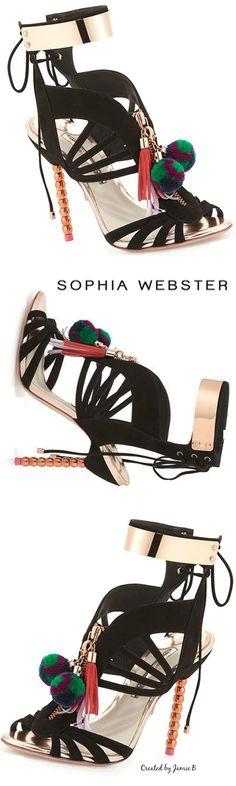 Pre Fall 2015 Sophia Webster | Yasmina Pom Pom Cage Sandal