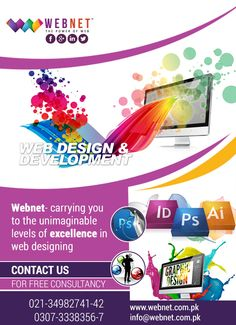 Webnet- carrying you to the unimaginable levels of excellence in web designing! Contact us : 021- 34982741-42 http://webnet.com.pk info@webnet.com.pk