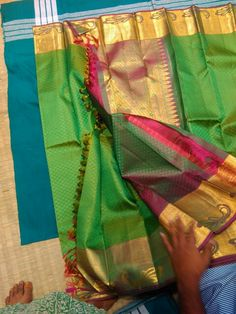 Kanjivaram of our loom #to buy #contact us at 09755425339