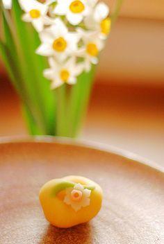 Japanese Sweets, wagashi,narsissus
