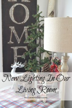 mycreativedays: New Lighting For Our Living Room