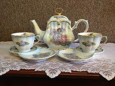 lace Victorian hats   Square Victorian Tea Set - Hydrangea