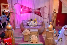Latest Wedding Decoration In Nigeria Engagement Decorations, Wedding Stage Decorations, Wedding Reception Centerpieces, Nigerian Traditional Wedding, Traditional Wedding Decor, Renewal Wedding, Reception Design, Classic Home Decor, Yoruba Wedding