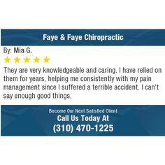 They are very knowledgeable and caring. I have relied on them for years, helping me...