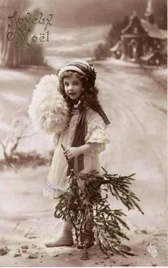1912....Sweet Little Girl...Curly Hair....Gentle Smile....Christmas....french…