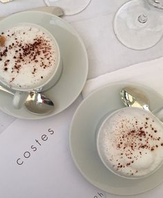 Morning coffee at Hotel Costes