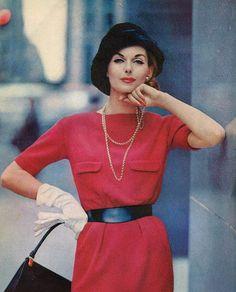 Vintage Red Fashion. <3 1957
