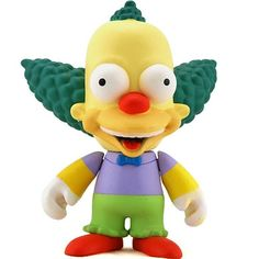 """Toy033 """"Krusty"""" by Matt Groening / Simpsons Series for Kid Robot (2008) #Toy"""