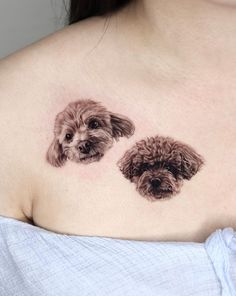 Two beautiful poodles by Yeono. See more amazing dog tattoos at the link! Dog Tattoos, Animal Tattoos, Piercing Tattoo, Piercings, Poodle Tattoo, Get A Tattoo, Dog Days, Best Dogs, Boy Or Girl