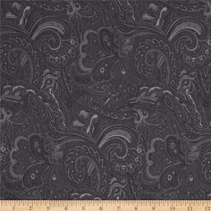 Avignon Paisley Black from @fabricdotcom  Designed by Michele D'Amore Designs for Benartex, this cotton print fabric is perfect for quilting, apparel and home decor accents. Colors include shades of dark grey.
