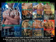 As the Pages Turn: Highland Guard series Giveaway - Celebrating upcoming release of The Hunter + Monica's website redesign