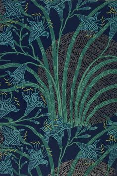 The Day Lily #wallpaper by Walter Crane, England, 1897 l Victoria and Albert Museum