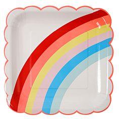 assiette arc en ciel pour anniversaire licorne- rainbow plate for unicorn birthday