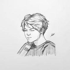 Kpop Drawings, Pencil Art Drawings, Art Drawings Sketches, Jimin Fanart, Kpop Fanart, Pinturas Disney, Dibujos Cute, Drawing Projects, Korean Art