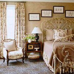 Beautiful brown and cream bedroom