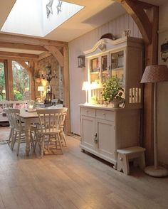 Kitchen add on, love these beams