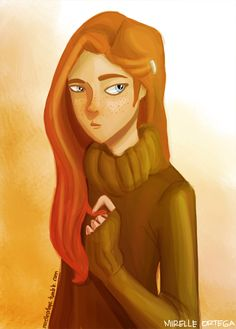 Ginny Weasley by illustrationrookie.deviantart.com on @deviantART