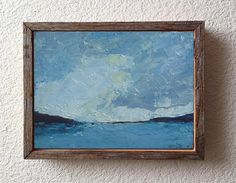 Seascape Original Oil Painting Landscape Painting by VESNAsART